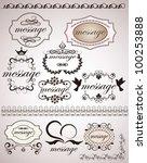 vintage design elements | Shutterstock .eps vector #100253888