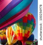 colorful hot air balloon... | Shutterstock . vector #100256978