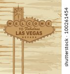 grunge welcome to fabulous las... | Shutterstock .eps vector #100261454