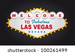 welcome to fabulous las vegas... | Shutterstock .eps vector #100261499