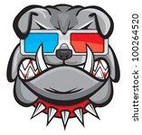 3d,3d glasses,angry,angry bulldog,animal,artwork,bad,big,breed,british,bull,bull dog,bull dogs,bulldog,canine