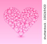 valentine's heart made of small ...   Shutterstock .eps vector #100265420