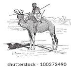 tuareg  tribe of the sahara ... | Shutterstock .eps vector #100273490