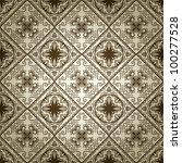 seamless pattern on gradient... | Shutterstock . vector #100277528