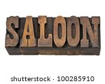 saloon    isolated word in... | Shutterstock . vector #100285910