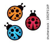 lady bug. vector illustration. | Shutterstock .eps vector #100291169