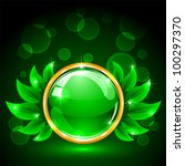 eco sphere concept with green... | Shutterstock .eps vector #100297370