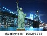 Brooklyn Bridge And The Statue...