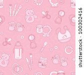 baby seamless pattern  it's a... | Shutterstock .eps vector #100302416