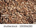 seamless tiling wood chips... | Shutterstock . vector #100306283