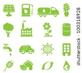 ecology and environment icon set | Shutterstock .eps vector #100318928
