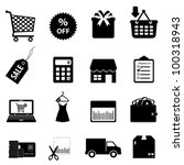 shopping and e commerce icon set | Shutterstock .eps vector #100318943