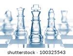 Transparent Glass Chess...