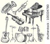 musical instruments | Shutterstock .eps vector #100334780