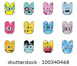 set of twelve monsters | Shutterstock .eps vector #100340468