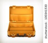open suitcase  vector | Shutterstock .eps vector #100341530