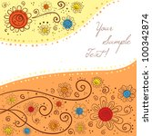 colorful hand drawn background... | Shutterstock .eps vector #100342874