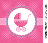 baby girl announcement card.... | Shutterstock .eps vector #100342988