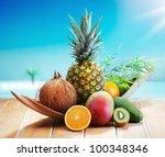 Fresh Fruits On The Beach At A...