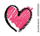 abstract pink heart  painted... | Shutterstock . vector #100350260