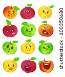 colorful apples with many... | Shutterstock .eps vector #100350680