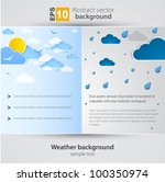 good and bad weather background. | Shutterstock .eps vector #100350974