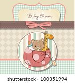 new baby announcement card with ... | Shutterstock .eps vector #100351994