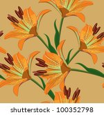 floral seamless background | Shutterstock .eps vector #100352798