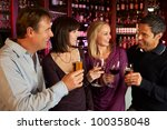 group of friends enjoying drink ... | Shutterstock . vector #100358048