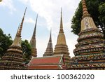 wat pho temple in bangkok ... | Shutterstock . vector #100362020
