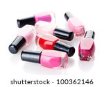 group of nail polishes isolated ... | Shutterstock . vector #100362146