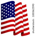waving u.s. flag | Shutterstock . vector #100362590