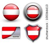 Austria Flag Icons Theme.