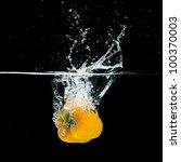 Fresh Yellow Paprika Splash In...