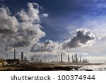 Big Oil Refinery Near The Sea...