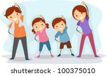 illustration of a family...   Shutterstock .eps vector #100375010