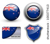 new zealand flag icons theme. | Shutterstock .eps vector #100377413