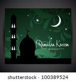 ramadan card | Shutterstock .eps vector #100389524
