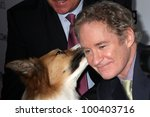 "Small photo of LOS ANGELES - APR 17: Kevin Kline with Kasey (the dog was Freeway in the movie) arrives at the ""Darling Companion"" Premiere at Egyptian Theater on April 17, 2012 in Los Angeles, CA"