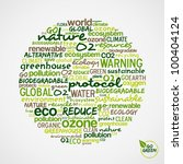 Go Green. Words cloud about environmental conservation in circle shape. Vector file available. - stock vector