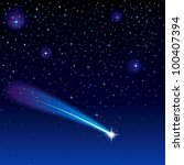 shooting star going across a... | Shutterstock .eps vector #100407394