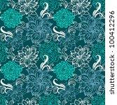 floral seamless pattern | Shutterstock .eps vector #100412296