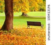 city park in autumn | Shutterstock . vector #100413196