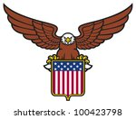 american eagle holding usa...   Shutterstock . vector #100423798