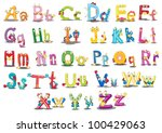 illustration of alphabet... | Shutterstock .eps vector #100429063