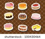 collection of sweets and... | Shutterstock .eps vector #100430464