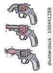three drawings  illustrating... | Shutterstock . vector #100441288
