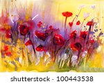 Stock Photo  Poppies  Flowers