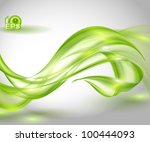 abstract green waving background | Shutterstock .eps vector #100444093