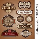 retro chocolate vintage labels | Shutterstock .eps vector #100444249